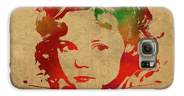 Shirley Temple Watercolor Portrait Galaxy S6 Case by Design Turnpike