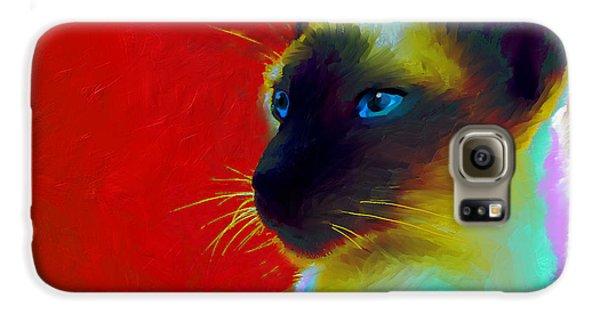 Siamese Cat 10 Painting Galaxy S6 Case by Svetlana Novikova