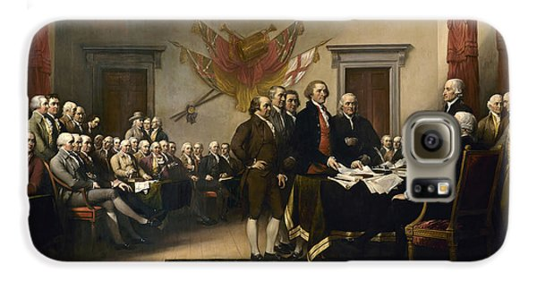 Signing The Declaration Of Independence Galaxy S6 Case by War Is Hell Store