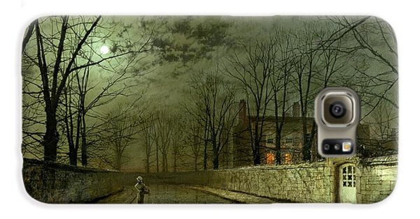 Silver Moonlight Galaxy S6 Case by John Atkinson Grimshaw