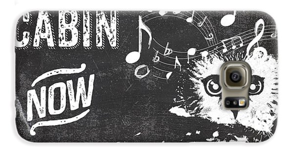 Singing Owl Cabin Rustic Sign Galaxy S6 Case by Mindy Sommers