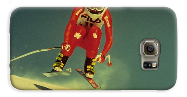Galaxy S6 Case featuring the photograph Skiing In Crans Montana by Travel Pics