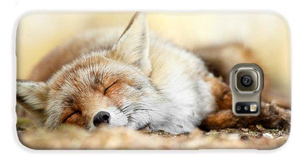 Sleeping Beauty -red Fox In Rest Galaxy S6 Case by Roeselien Raimond