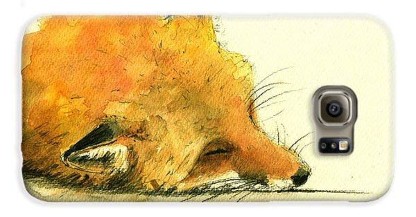 Sleeping Fox Galaxy S6 Case by Juan  Bosco