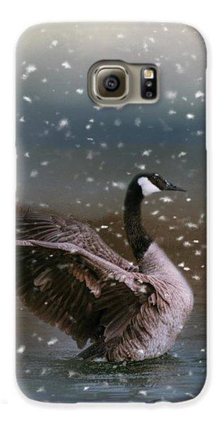 Snowy Swim Galaxy S6 Case by Jai Johnson
