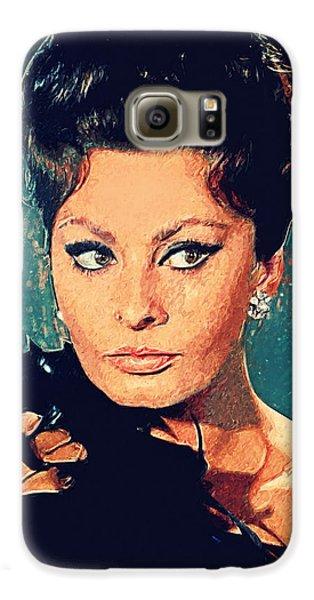 Sophia Loren Galaxy S6 Case by Taylan Soyturk