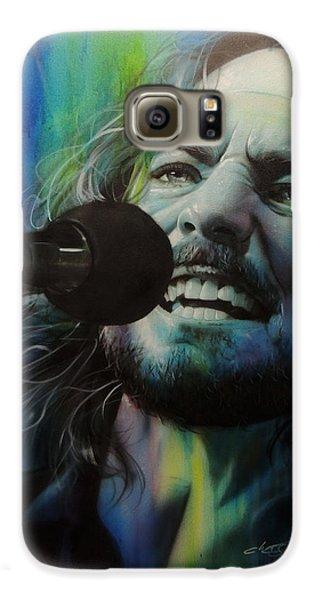 Eddie Vedder - ' Spectrum Of Vedder ' Galaxy S6 Case by Christian Chapman Art