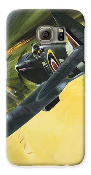 Spitfire And Doodle Bug Galaxy S6 Case by Wilf Hardy
