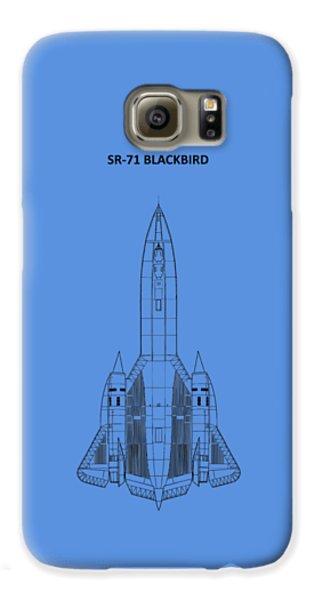 Sr-71 Blackbird Galaxy S6 Case by Mark Rogan