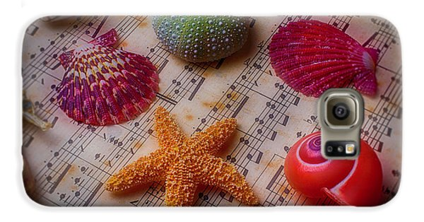 Starfish On Sheet Music Galaxy S6 Case by Garry Gay