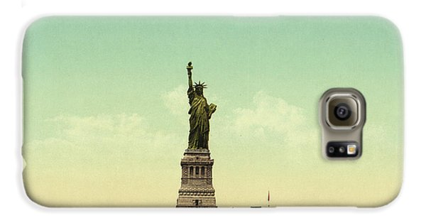 Statue Of Liberty, New York Harbor Galaxy S6 Case by Unknown