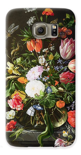 Still Life Of Flowers Galaxy S6 Case by Jan Davidsz de Heem