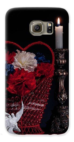 Still Life With Lovebirds Galaxy S6 Case by Tom Mc Nemar