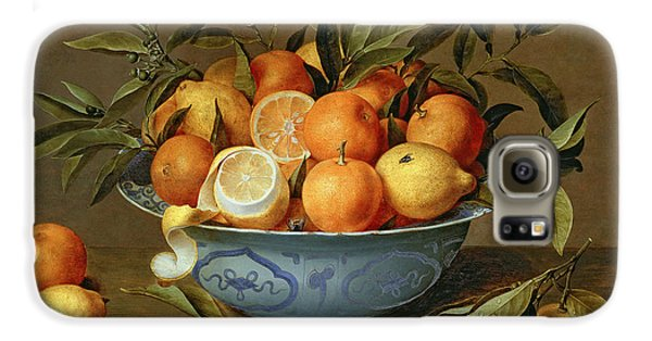 Still Life With Oranges And Lemons In A Wan-li Porcelain Dish  Galaxy S6 Case by Jacob van Hulsdonck