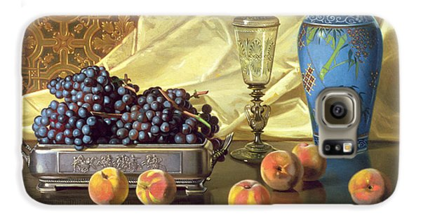 Still Life With Peaches Galaxy S6 Case by Edward Chalmers Leavitt