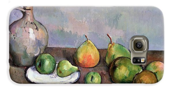 Still Life With Pitcher And Fruit Galaxy S6 Case by Paul Cezanne
