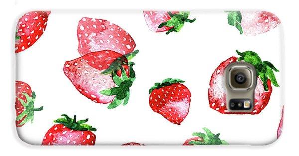 Strawberries Galaxy S6 Case by Varpu Kronholm