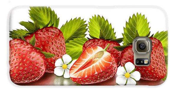 Strawberries Galaxy S6 Case by Veronica Minozzi
