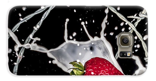 Strawberry Extreme Sports Galaxy S6 Case by TC Morgan