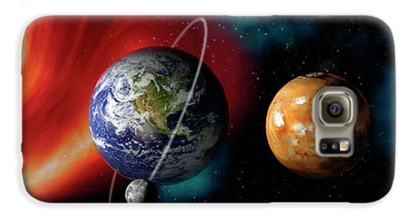 Sun And Planets Galaxy S6 Case by Panoramic Images