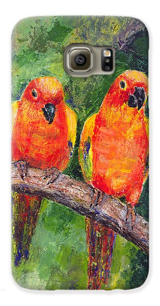 Sun Parakeets Galaxy S6 Case by Arline Wagner