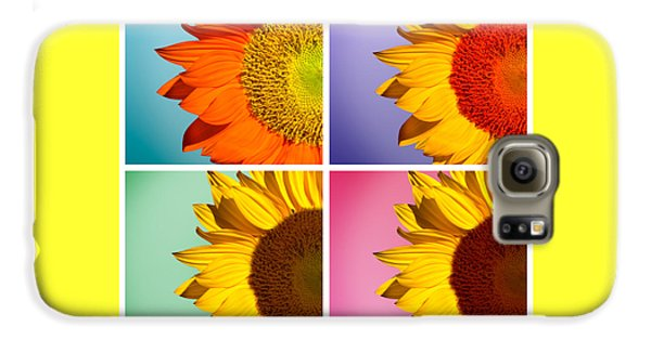 Sunflowers Collage Galaxy S6 Case by Mark Ashkenazi