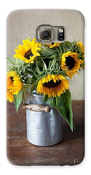 Sunflowers Galaxy S6 Case by Nailia Schwarz