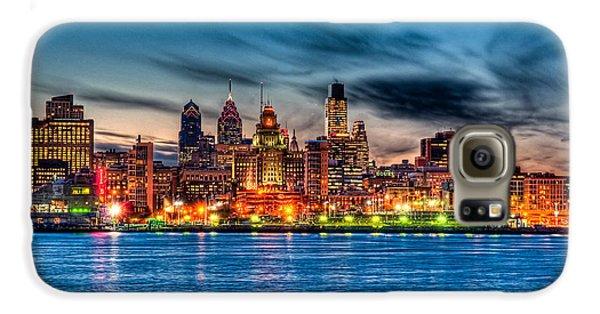 Sunset Over Philadelphia Galaxy S6 Case by Louis Dallara