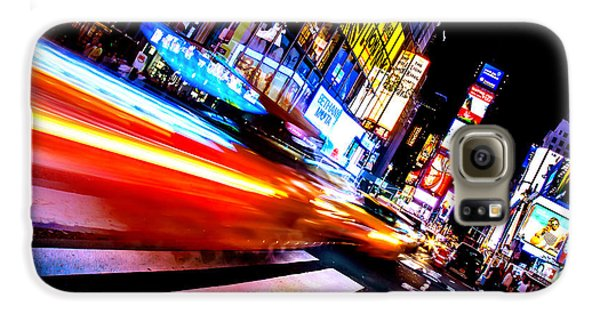 Taxis In Times Square Galaxy S6 Case by Az Jackson
