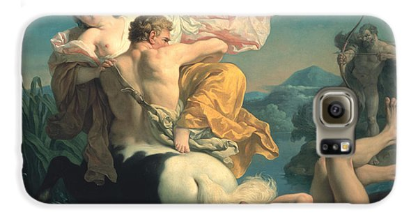 The Abduction Of Deianeira By The Centaur Nessus Galaxy S6 Case by Louis Jean Francois Lagrenee