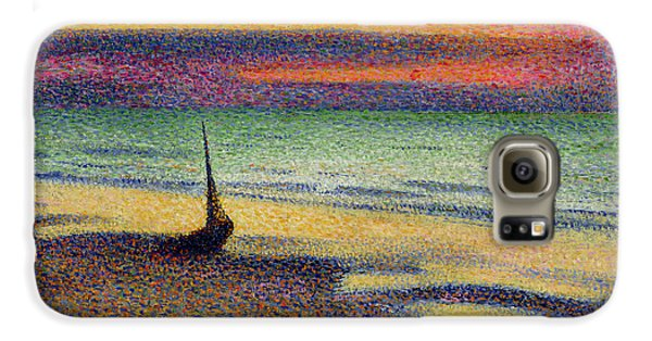 The Beach At Heist Galaxy S6 Case by Georges Lemmen
