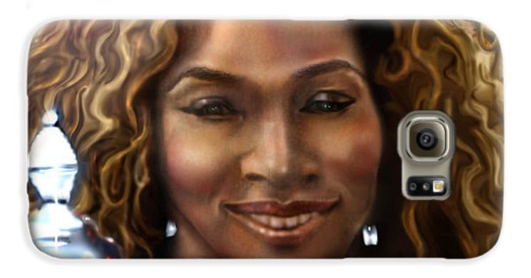 The Beauty Victory That Is Serena Galaxy S6 Case by Reggie Duffie