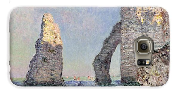 The Cliffs At Etretat Galaxy S6 Case by Claude Monet