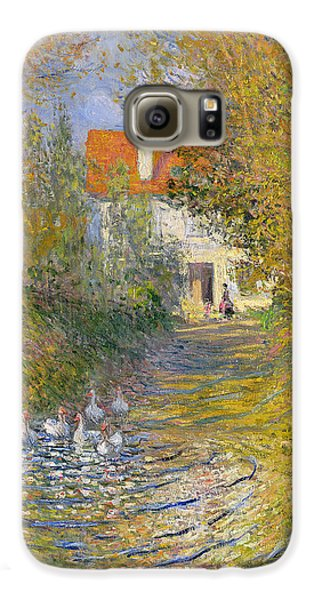 The Duck Pond Galaxy S6 Case by Claude Monet