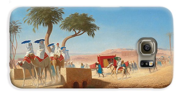 The Empress Eugenie Visiting The Pyramids Galaxy S6 Case by Charles Theodore Frere