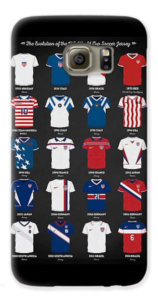 The Evolution Of The Us World Cup Soccer Jersey Galaxy S6 Case by Taylan Soyturk
