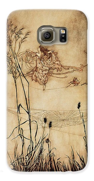 The Fairy's Tightrope From Peter Pan In Kensington Gardens Galaxy S6 Case by Arthur Rackham