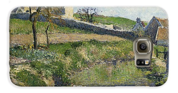 The Farm At Osny Galaxy S6 Case by Camille Pissarro