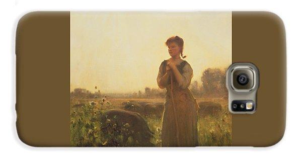 The Farm Girl Galaxy S6 Case by Arthur Hacker
