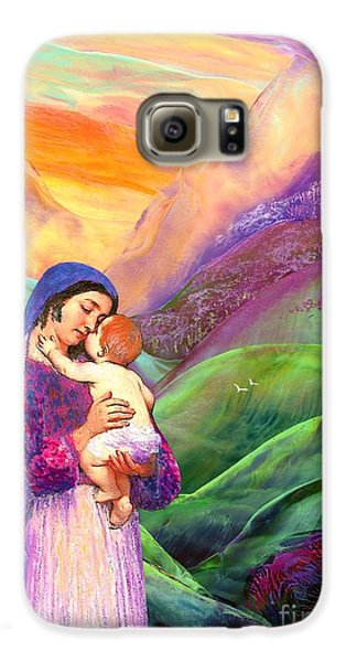 Virgin Mary And Baby Jesus, The Greatest Gift Galaxy S6 Case by Jane Small