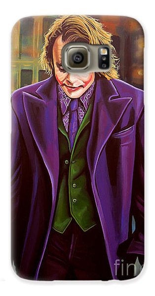 The Joker In Batman  Galaxy S6 Case by Paul Meijering