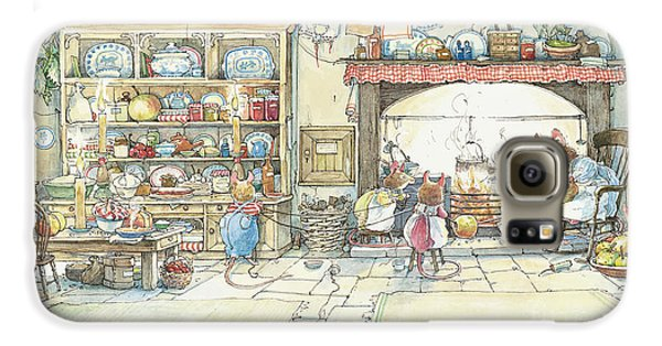 The Kitchen At Crabapple Cottage Galaxy S6 Case by Brambly Hedge