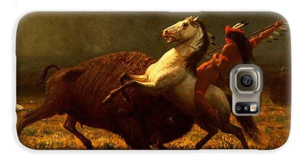 The Last Of The Buffalo Galaxy S6 Case by Albert Bierstadt