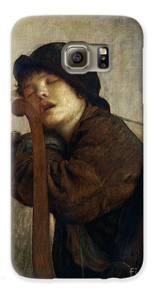 The Little Violinist Sleeping Galaxy S6 Case by Antoine Auguste Ernest Hebert