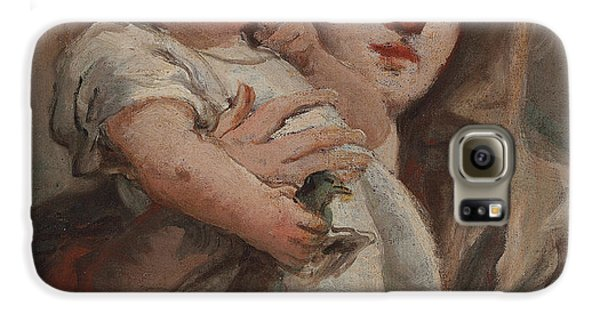 The Madonna And Child With A Goldfinch Galaxy S6 Case by Tiepolo