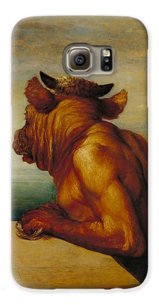 The Minotaur Galaxy S6 Case by George Frederic Watts