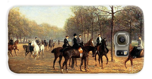 The Morning Ride Rotten Row Hyde Park Galaxy S6 Case by Heywood Hardy