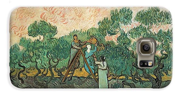 The Olive Pickers Galaxy S6 Case by Vincent van Gogh