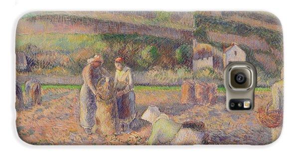 The Potato Harvest Galaxy S6 Case by Camille Pissarro