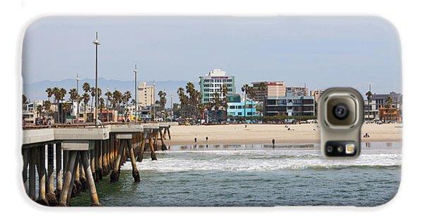 The South View Venice Beach Pier Galaxy S6 Case by Ana V Ramirez